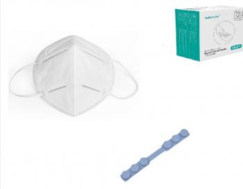 Set 10 Masti Protectie KN95 FFP2 plus 10 Dispozitive de prindere plus 120 buc servetele antibacteriale Masti chirurgicale si reutilizabile