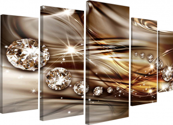 Tablou canvas modular Fantezie cu diamante 206x115 cm Tablouri