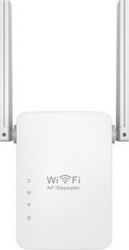 Mini Router Wireless-N / Repeater Amplificator Semnal WI-FI Doua Antene LV-W13 300Mbps Alb Routere
