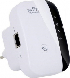 Mini Router Wireless-N / Repeater Amplificator Semnal WI-FI WR-08 300Mbps Alb-Negru Routere