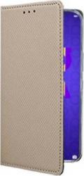 Husa Samsung Galaxy A21S - tip Carte premium book inchidere magnetica Auriu Huse Telefoane