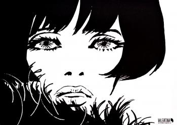 Tablou Canvas Valentina by Guido Crepax TOPSTAR 35x50 cm Tablouri