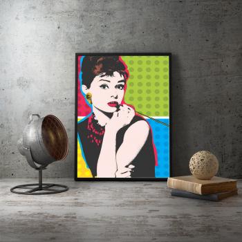 Poster inramat Audrey Hepburn 30x45 cm Tablouri
