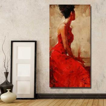 Poster inramat Beautiful lady 50x75 cm Tablouri