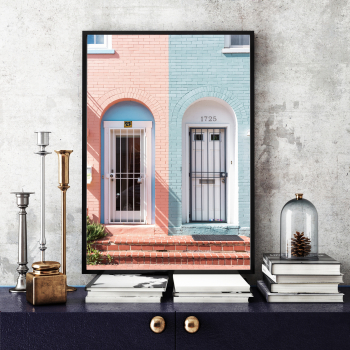 Poster inramat Contraste in oras 30x45 cm Tablouri
