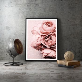 Poster inramat Flori roz 30x45 cm Tablouri