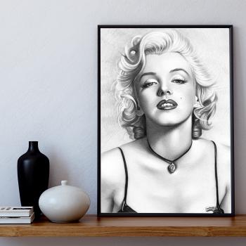 Poster inramat Marilyn Monroe 30x45 cm Tablouri