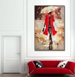 Poster inramat Pe ploaie 30x45 cm Tablouri