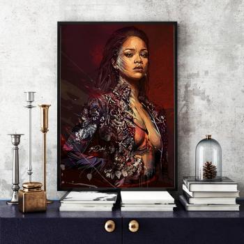 Poster inramat Rihanna 30x45 cm Tablouri