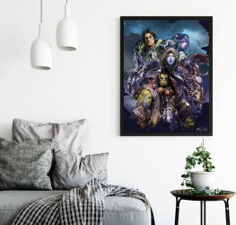 Poster inramat Roboti 30x45 cm Tablouri