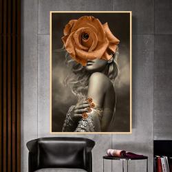 Poster inramat Trandafir oranj 50x75 cm Tablouri