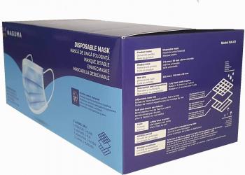 Set 50 bucati Masti protectie faciale de protectie de unica folosinta nesterile Nivel protectie FFP2 Masti chirurgicale si reutilizabile