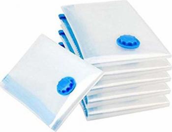 Set 6 saci pentru vidat haine marime 50x60 transparenti usor de folosit