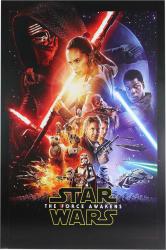 Tablou decorativ pe placaj Star Wars episode VII Kylo Ren and Stormtroopers 100 x 140 cm Tablouri
