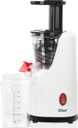 Storcator de fructe si legume cu melc Zilan ZLN-4014 200 W 58-65 RPM Recipient suc 600 ml Recipient pulpa 600 ml Functie Reverse Alb Storcatoare