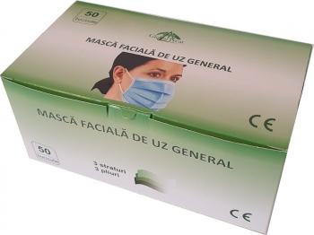Set 50 bucati Masti protectie faciale de protectie de unica folosinta nesterile eficienta filtrare BFE 95 Masti chirurgicale si reutilizabile