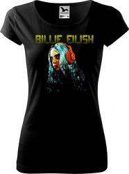 Tricou cu maneca scurta K-off negru XL Billie Eilish neon Tricouri dama