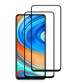Set 2 folii protectie sticla securizata fullsize pentru Xiaomi Redmi 9A / 9C negru