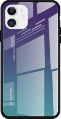 Husa de protectie Bibilel Gradient pentru iPhone 11 Pro Max Albastru-Negru Huse Telefoane