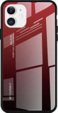 Husa de protectie Gradient pentru iPhone 11 Pro Max Rosu-Negru Huse Telefoane