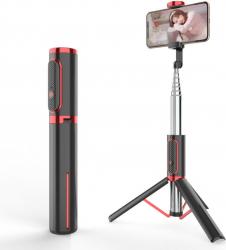 Selfie stick si mini trepied extensibil Ulanzi 3 in 1 cu telecomanda Bluetooth pentru smartphone Gimbal, Selfie Stick si lentile telefon
