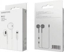 Casti Audio Originale Borofone M32 cu Microfon compatibile Apple pentru Iphone 7/8/X/XS/XR/11/11PRO/11PRO Max iPad/iPod White