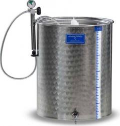 Cisterna inox cu capac flotant cu garnitura Marchisio SPA100A 100 litri dimensiuni 384x1000 mm Depozitare alimente