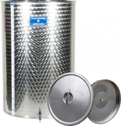 Cisterna inox cu capac flotant cu ulei Marchisio SPO100A 100 litri dimensiuni 384x1000 mm Depozitare alimente
