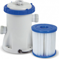 Pompa Recirculare cu Filtru Bestway 58381 pentru Filtrare Apa Piscina Debit 1249L/H