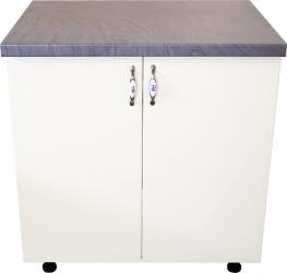 Masca pentru chiuveta cu 2 usi 80 cm Zebra alb/MDF Vanilie cu blat Beton 80 x 85 x 60 cm Mobilier baie