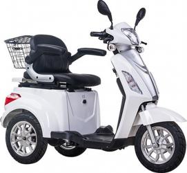 Tricicleta electrica 500W acceleratie 3 viteze alarma 50km Tornado TRD910 alb Motociclete si Scutere