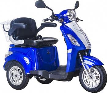 Tricicleta electrica 500W frana electromagnetica fara permis Z-Tech ZT 15 E albastru Motociclete si Scutere