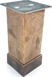 Picior reglabil cu masca cu profil patrat pentru mobilier H80 finisaj auriu antichizat Accesorii mobilier