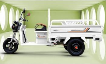 Triciclu electric marfa 2000W 25km/h 50km bena basculabila Kuba alb Motociclete si Scutere