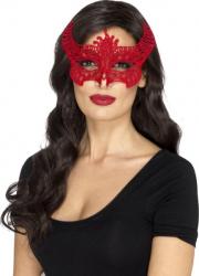 Masca de diavolita broderie rosie Costume serbare