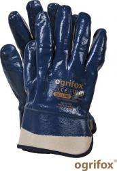 Manusi de protectie acoperite cu nitril cu manseta rigidizata Raw Pol Articole protectia muncii