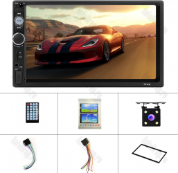 MP5 Player DVD 2DIN Universal WinCE Bluetooth USB CardSD Camera Marsarier Auxiliar Mirrorlink Touchscreen - AD-BGP7010B
