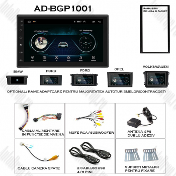 Navigatie Auto All-in-one Android 8.1 1GB RAM and 16GB Memorie 7Inch - AD-BGP1001
