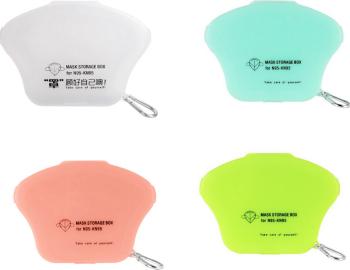 Set 4 bucati cutii portabile pentru depozitare si protectie masca Kn95 multicolor Masti chirurgicale si reutilizabile