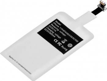 Receiver Incarcator Wireless QI 5V 1A compatibil iPhone alb