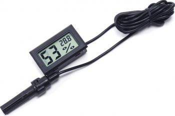 Termometru higrometru digital de panou cu afisaj LCD