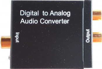 Adaptor convertor semnal audio digital optic sau COAX la RCA L+R alimentator 5V