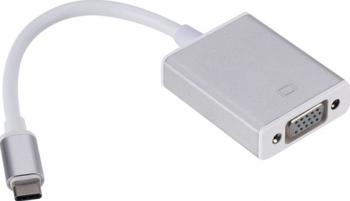 Cablu adaptor convertor USB 3.1 Type C - VGA pentru laptop Cabluri laptop
