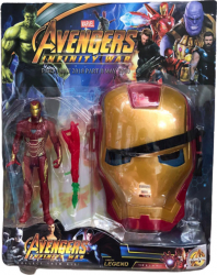 Figurina si masca Iron Man