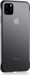 Carcasa Matte Skin UltraSlim compatibila Apple iPhone 11 Pro Max Margini Negre Huse Telefoane
