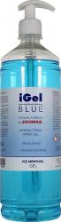 Gel pentru maini iGel BLUE cu glicerina 70 alcool efect antibacterian 1000ml Gel antibacterian