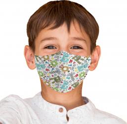 Masca reutilizabila din textil pentru copii 6-9ani Robot Masti chirurgicale si reutilizabile