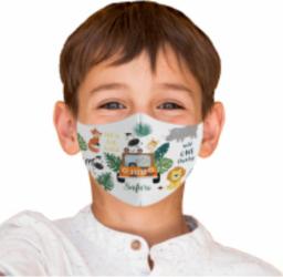 Masca reutilizabila din textil pentru copii 6-9ani Safari Masti chirurgicale si reutilizabile