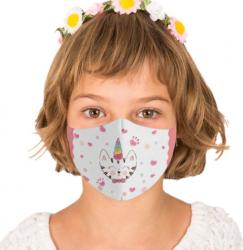 Masca reutilizabila din textil pentru copii Kitty Masti chirurgicale si reutilizabile
