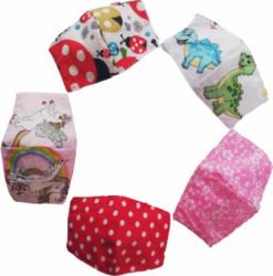Set 5 masti de protectie din bumbac pentru copii ZuZa marimea S Masti chirurgicale si reutilizabile